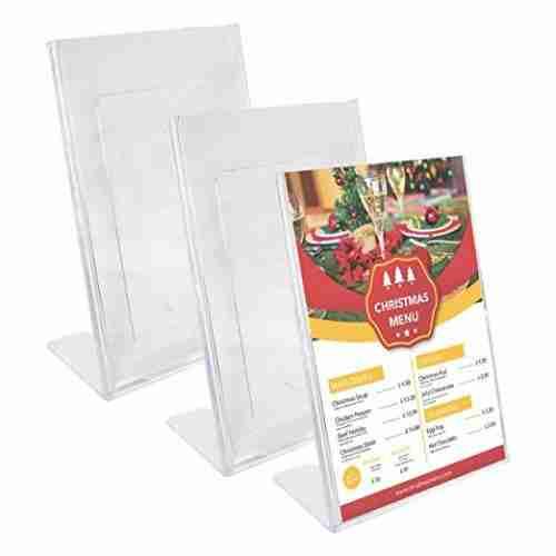 perspex menu stand
