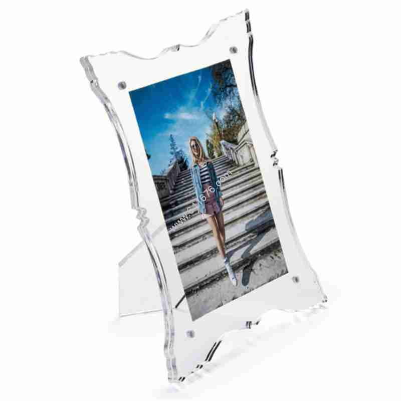4x6 Ornate Border Acrylic Magnetic Picture Frame For Tableto