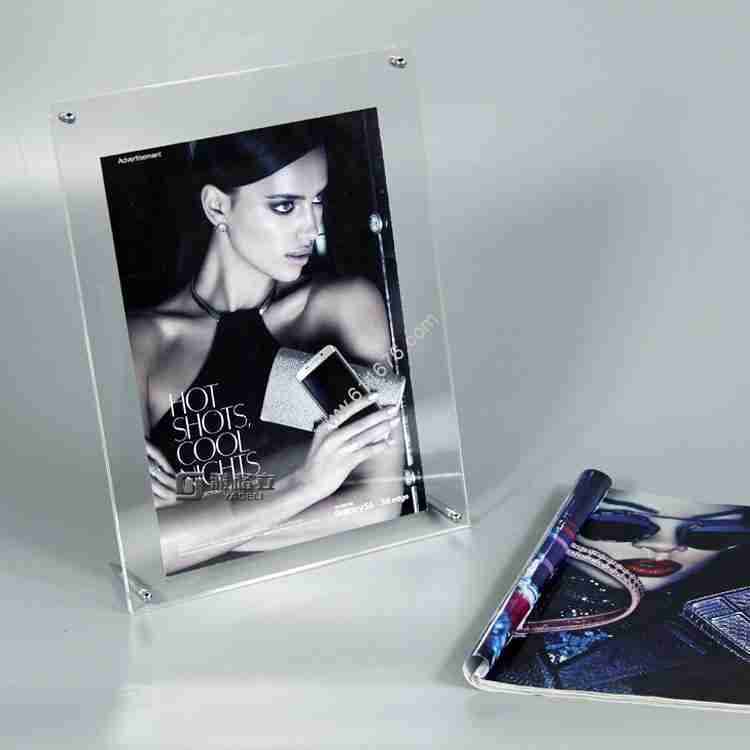 Acrylic double-sided bracket photo frame