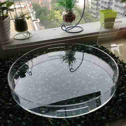 Round Shape Top Grade Acrylic Tray Manufacturer