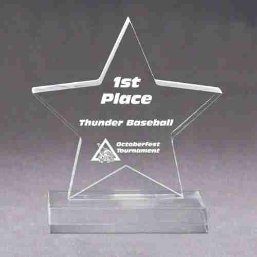 Star Shape Acrylic Trophy Blanks For Wholesale