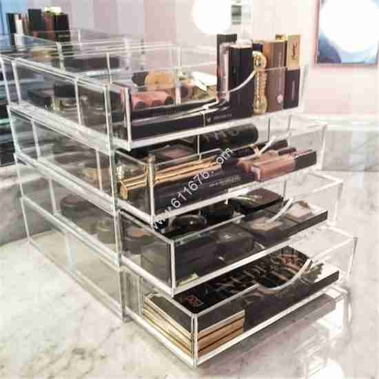 Clear Acrylic Makeup Organizer With 4 Drawers