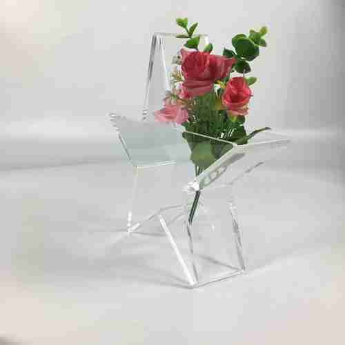 Custom Pentacle Shaped Clear Acrylic Flower Box