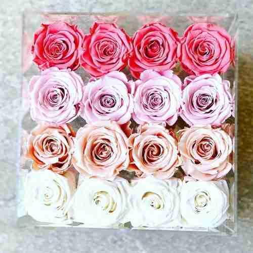 Custom acrylic flower box with holes