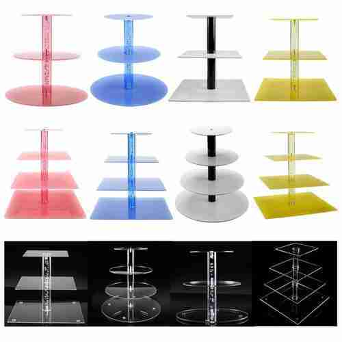 perspex tiered display stands