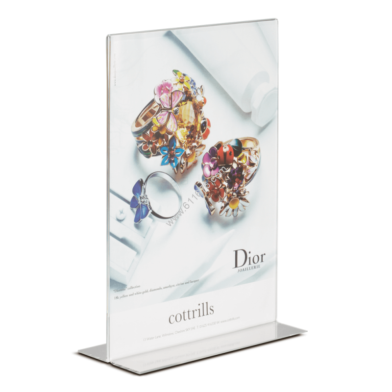 Acrylic Poster Holder with Open Base
