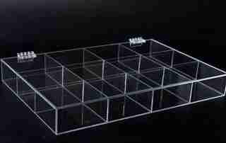 Acrylic box packaging method