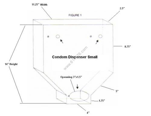 Clear Acrylic Condom Display Plastic Dispenser For Condoms