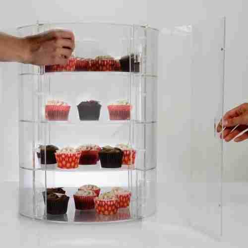Acrylic Cupcake Storage Display Stand Food Display Cabinet