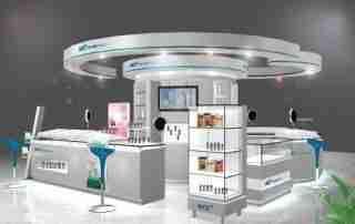 Demand of organic glass cosmetics display stand