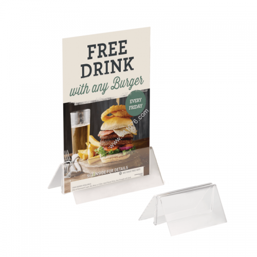 Acrylic Menu Card Holder Base