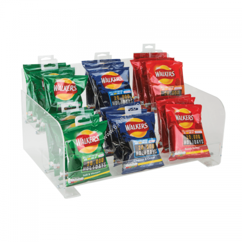 Two Tier Confectionery Acrylic Merchandising Display