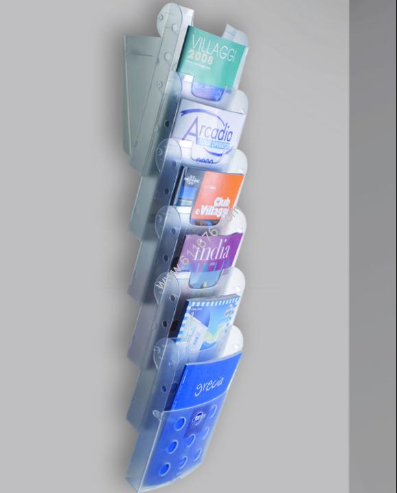 Acrylic Wall Mounted Magazine Racks