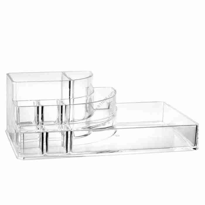Clear Acrylic Lipstick Liner Brush Holder Jewelry Storage Box