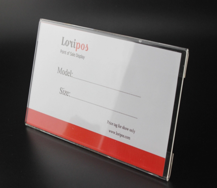 Factory directly acrylic counter label card holder